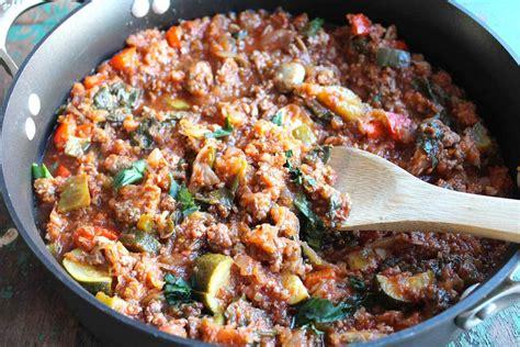 ground recipies spaghetti squash casserole with ground beef