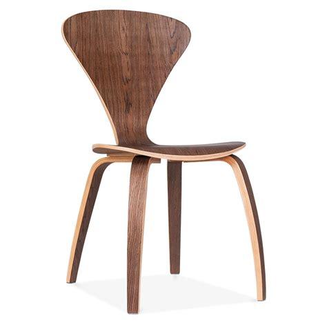 chaise de style chaise design moderne de style cherner en bois de noyer