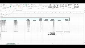 Fixed Asset Continuity Schedule Template