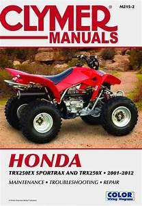 Honda Trx250 Sportrax Series Atv  2001