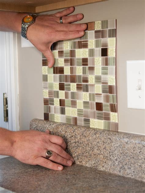 stick on tile how to install a backsplash how tos diy