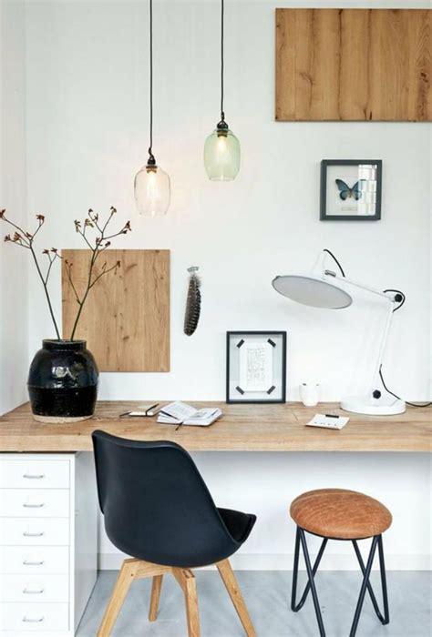 bureau blanc et bois aménagement d 39 un petit espace de travail le bureau style