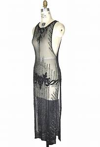Art Deco Haus : 1920 39 s art deco panel tabard gown le myst re black jet ~ Watch28wear.com Haus und Dekorationen