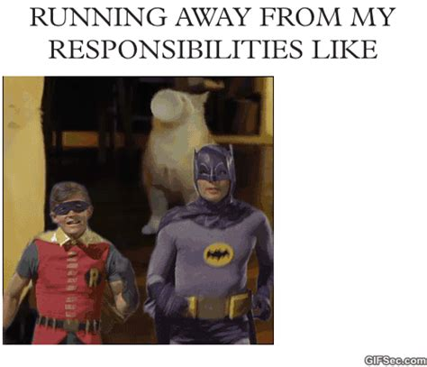 Running Away Meme - running away from responsibilities gif