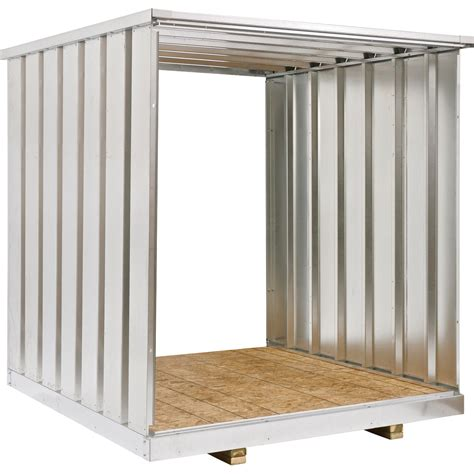 metal storage shed west galvanized steel storage container extension kit
