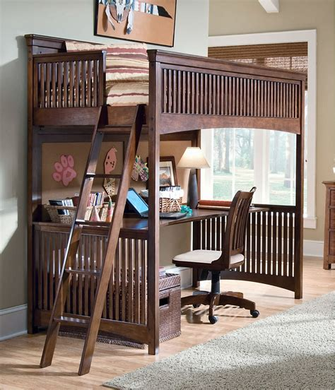 bunk bed with desk lea furniture elite crossover loft bed