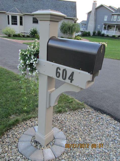 Wooden Mailbox Post Ideas