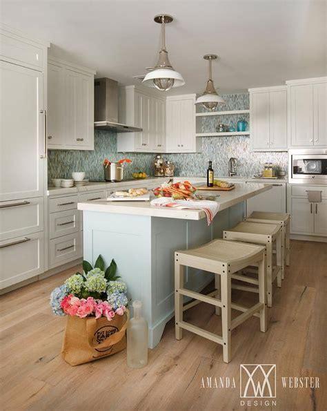 Blue Kitchen Island   Contemporary   kitchen   James R