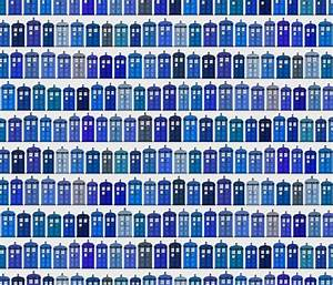 Tardis fabric pattern wallpaper cloth Doctor Who ...
