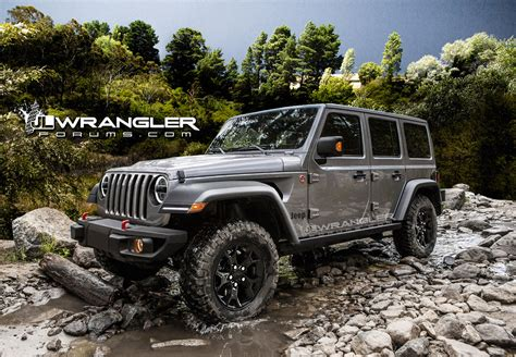 2018 Jeep Wrangler Forum by Renderings New Jeep Wrangler Jlu Brought To 2018