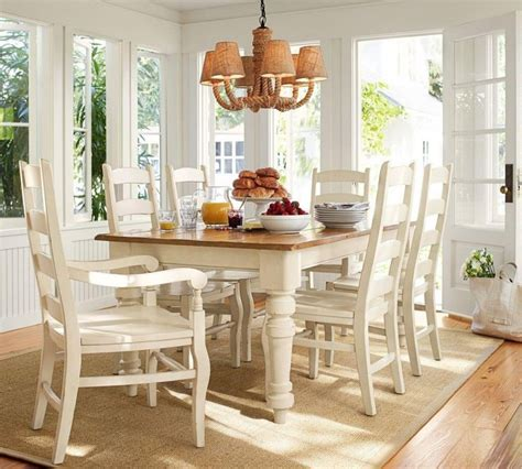 country kitchen dining sets tables chairs sumner pottery barn extending kitchen 6054