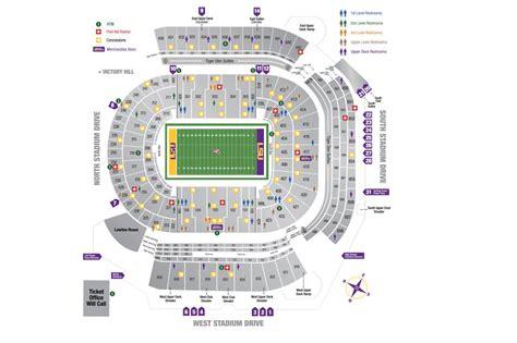tiger stadium diagram lsusportsnet  official web site  lsu tigers athletics