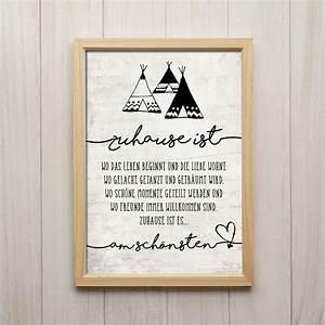 Zu Hause Zuhause : bild zuhause spruch kunstdruck a4 familie kinderzimmer deko poster geschenk ebay ~ Markanthonyermac.com Haus und Dekorationen