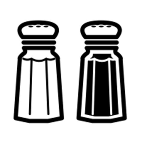 salt and pepper clipart black and white salt and pepper icons noun project