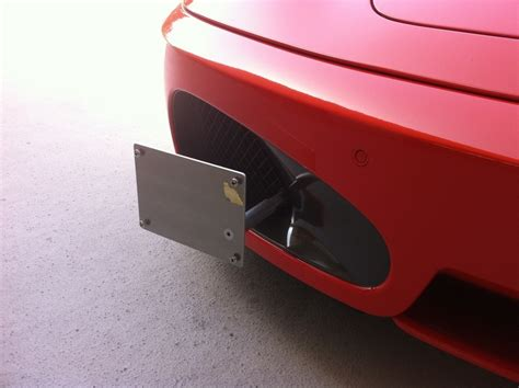 fs front license plate bracket  ferrari  coupe