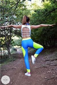 Black Neon Yellow Leggings Women Leggings Yoga Pants