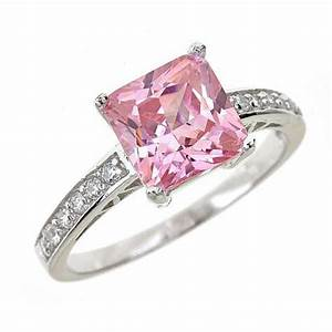princess cut engagement rings clean simple jewelry With pink and silver wedding rings