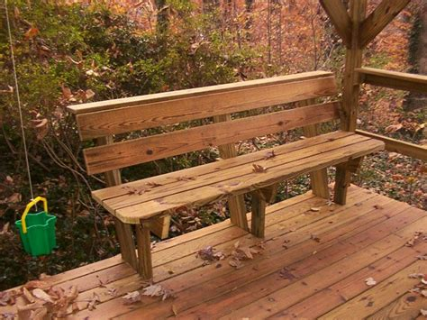 Deck Bench Design by Deck Bench Design Plans Benches Picnic Tables Photo
