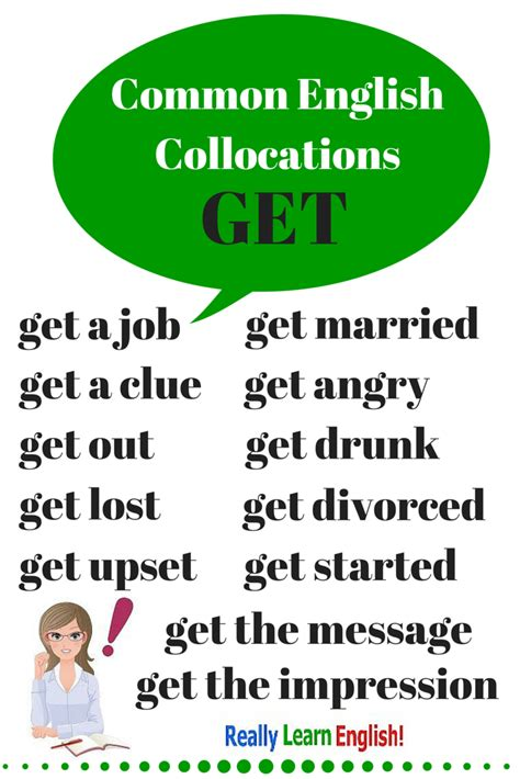"""Common English Collocations With """"get""""  To Truly Learn English, You Must Learn And Understand"""