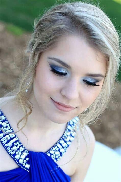 blue prom makeup blue dress makeup prom makeup beautiful makeup