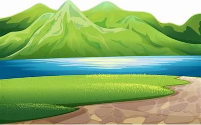 Mountain Clipart Lake Mountains Transparent Nature Peaceful