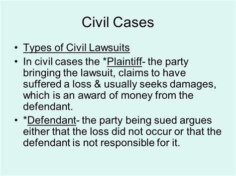 Civil Cases Types Of Civil Lawsuits