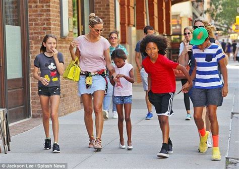 Maybe you would like to learn more about one of these? Heidi Klum rocks a micro-mini skirt for NYC outing with her four kids   Heidi klum, Heidi klum's ...