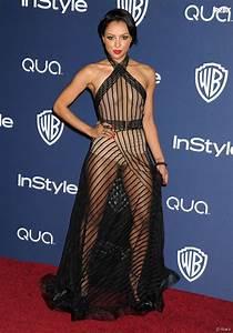 kat graham en robe transparente a la soiree instyle apres With robe transparente video