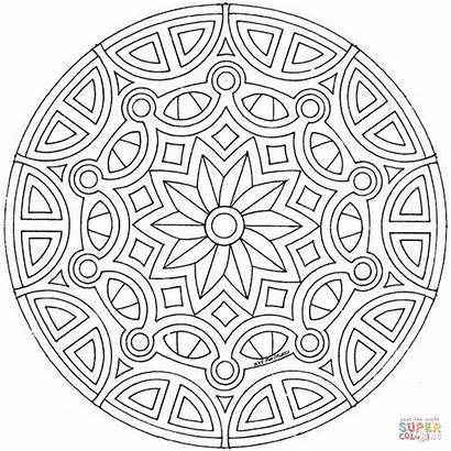Mandala Coloring Celtic Pages Printable Drawing Mandalas