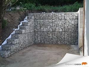 Mur En Gabion : vos chantiers en images tendance gabion le gabion pro ~ Premium-room.com Idées de Décoration