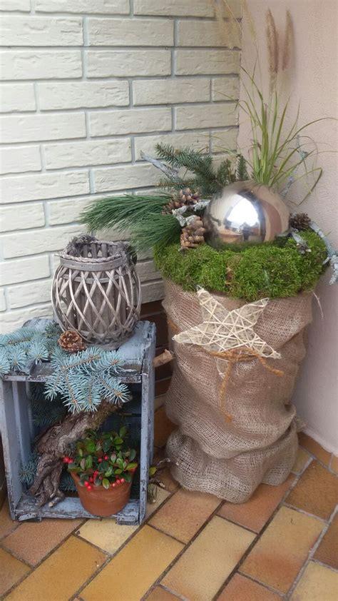 weihnachtsdeko für draussen selber basteln die besten 25 weihnachtsdeko drau 223 en ideen auf rustikale winterdekoration