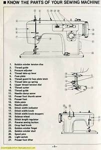 Brother 651 Charger Sewing Machine Instruction Manual