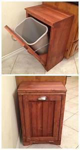 Ana White Tilt Out Wooden Trash Bin - DIY Projects
