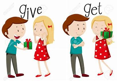 Clipart Giving Give Getting Boy Illustration Clipground