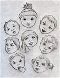 Skizzierte Gesichtsausdrücke Eingestellt Satz Hand