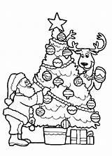 Dibujos Papa Navidad Noel Arbol Colorear Imprimir Dibujosparacolorear Clic sketch template