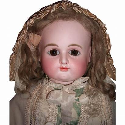 Doll Round Face Antique Very Dumoutier Pewter