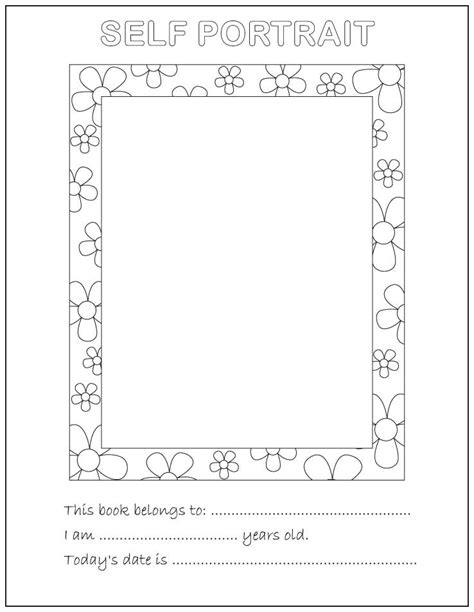 this is me art template all about me coloring pages to download and print for free