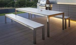 Table Et Banc De Jardin : banc blanc design pour table manger de jardin leuven 280 cm ~ Teatrodelosmanantiales.com Idées de Décoration