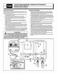 Toro Weather Resistant Controller Cabinet Model Gk212 Cab
