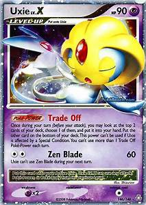 pokemon card of day uxie lv x legends 28