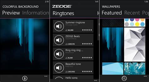 free zedge ringtones wallpapers app for windows phone is