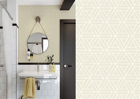 papier peint pastel geometrique