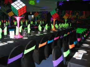 80s Theme Party Table Decoration Ideas
