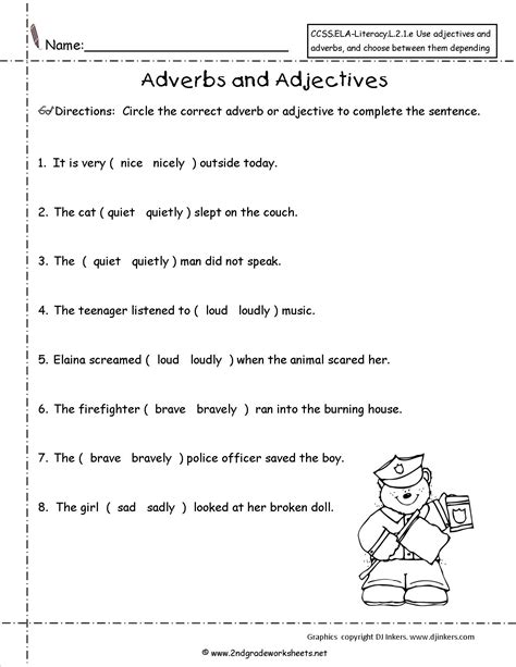 17 best images of adjective worksheets grade 8