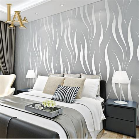 Fashion Embossed Flocking 3d Striped Wallpaper For Walls