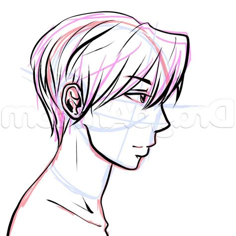 There has recently been a tremendous rush in anime hairstyles for boys & men. Anime Male Hair Side View - Drawing Art Ideas