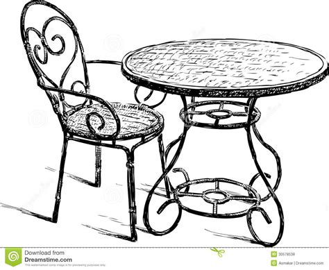 table avec chaises table and chair royalty free stock photos image 30578538