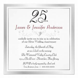 25th wedding anniversary party invitations zazzle for Examples of 25th wedding anniversary invitations
