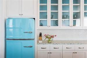 white kitchen with turquoise accents cottage kitchen With what kind of paint to use on kitchen cabinets for retro wall art decor
